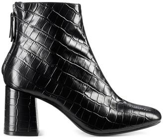 Cosmo Paris Epoc/Croc Heeled Leather Boots