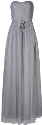 Marchesa Tulle Draped Long Bridesmaid Gown