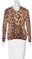 Dolce & Gabbana Leopard Print Cardigan Set