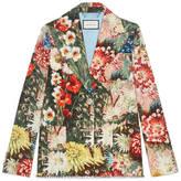 Gucci Impressionist garden jacket with crystals