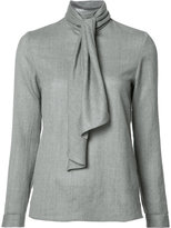 Vanessa Seward scarf detail blouse - women - Wool - 34