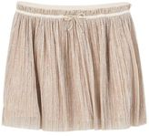 MANGO Girls Metallic pleated skirt