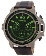 Diesel Men&s Dead Eye Leather Strap Watch