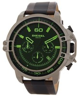 Diesel Men's Dead Eye Leather Strap Watch