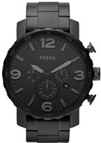 Fossil Men's 'Nate' Chronograph Bracelet Watch, 50Mm
