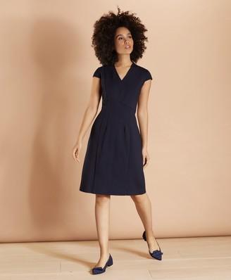 Brooks Brothers Ponte Knit Cap-Sleeve Sheath Dress