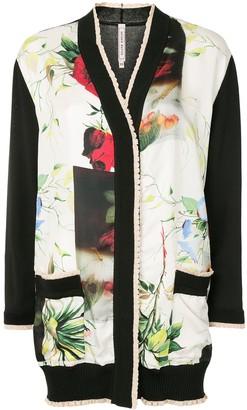 Antonio Marras floral-print V-neck cardigan