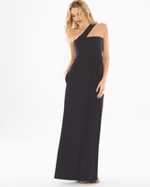Soma Intimates Soft Jersey One Shoulder Halter Maxi Dress Black