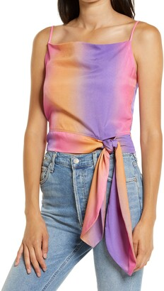 4SI3NNA the Label Elodie Rainbow Tie Waist Tank