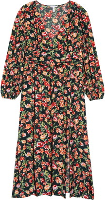 Leith Floral Print Long Sleeve Dress