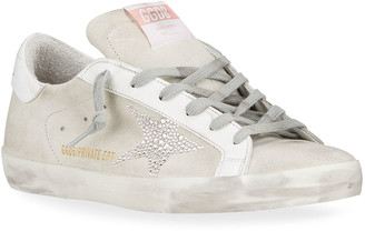 Golden Goose Superstar Swarovski Crystal Suede Sneakers