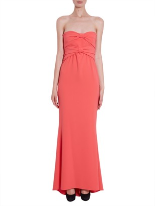 Moschino long crepe dress