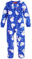 Family Pajamas Baby Boys' or Baby Girls' Snowman Microfleece Footed Pajamas, Only at Macy's