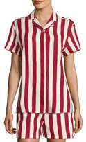 RED Valentino Striped Camp Shirt