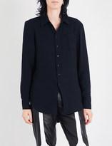 Yang Li Asymmetric cotton-blend shirt