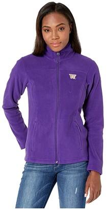 Columbia College Washington Huskies CLG Give and Gotm II Full Zip Fleece Jacket (Purple) Women's Fleece