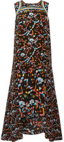 Peter Pilotto Adonia Printed Silk Midi Dress - Black