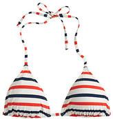 J.Crew String bikini top in multistripe