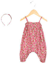 Bonpoint Girls' Sleeveless Floral All-In-One