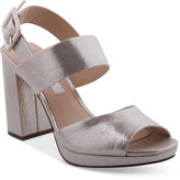 Nina Athena Slingback Block Heel Platform Evening Sandals