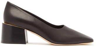 Burberry Margrette Square-toe Leather Pumps - Womens - Black