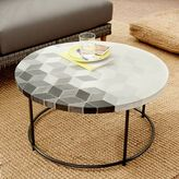 west elm Mosaic Tiled Coffee Table - Isometric Concrete