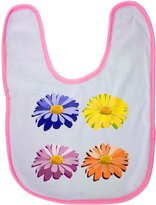 Fotomax baby bib with Multi color efflorescence flowers