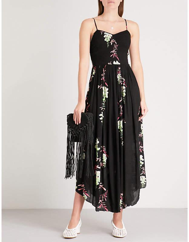 Free People Beau floral-print woven midi dress