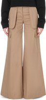 Off-White Cargo flared cotton-blend trousers