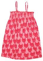Pink Chicken Kitty Toddler Dress