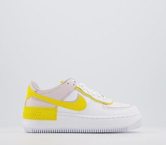 Nike Force 1 Shadow Trainers White Speed Yellow Barely Rose
