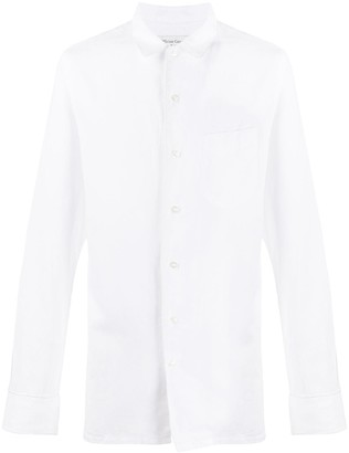 Officine Generale Slim Fit Classic Collar Shirt