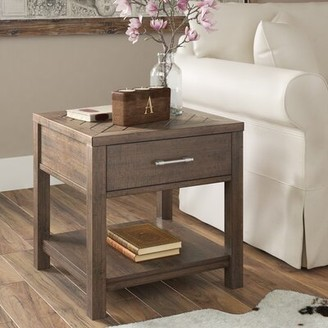 Three Posts Ismay Solid Wood End Table