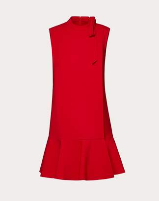 Valentino Double Comfort Crepe Dress Women Red Virgin Wool 94%, Elastane 5%, Polyamide 1% 40