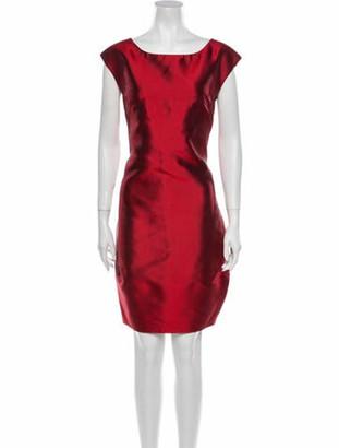 Dolce & Gabbana Silk Knee-Length Dress Red