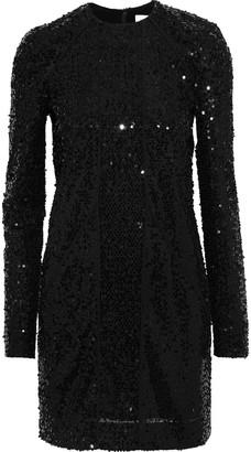 Victoria Beckham Sequined Tulle Mini Dress