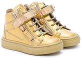 Giuseppe Junior - Vegas hi-top sneakers - kids - Leather/rubber - 22