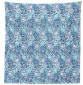 vipsung Paisley Decor Tablecloth Ocean Themed Ethnic Indian Design with Floral Leaf Wave like Details Dining Room Kitchen Rectangular Table Cover Blue and White