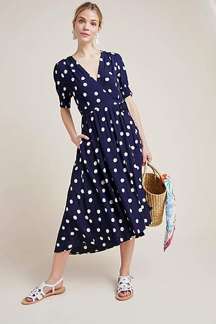 Maeve Polka Dot Wrap Dress