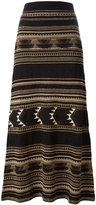 Polo Ralph Lauren embroidery skirt - women - Silk/Linen/Flax/Nylon/Spandex/Elastane - S