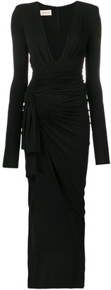 Alexandre Vauthier deep V-neck dress