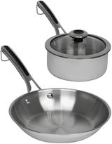 Revere Copper Confidence CoreTM Stainless Steel Frying Pan and Covered Sauce Pot Set