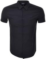 Giorgio Armani Jeans Short Sleeved Slim Fit Shirt Navy