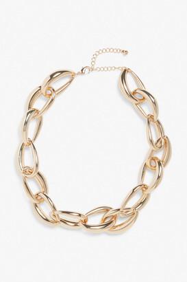 Monki Gold chunky necklace