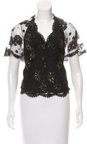 ALICE by Temperley Embellished Lace Blouse