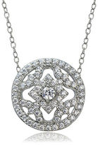 Lord & Taylor Cubic Zirconia and Sterling Silver Medallion Pendant Necklace