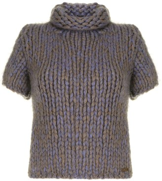 Chanel Pre Owned 2000s Roll Neck Knitted Top
