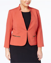 Nine West Plus Size Star-Neck Blazer