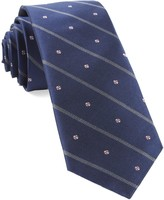 The Tie Bar Baseball Stripe Navy Tie