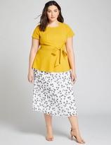 Lane Bryant Pleated Chiffon Midi Skirt
